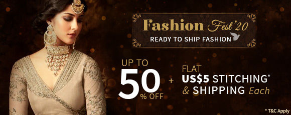 Fashion Fest'20 | Up to 50% off with Flat US$5 Shipping & Stitching* each. Shop!