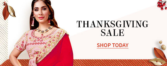 Thanksgiving Day Sale | Up to 50% off Sitewide + 50% off Stitching & Free Shipping*. Shop!