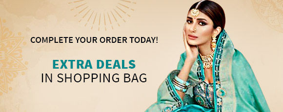 Sunny Festivities: Upto 50% Off + Free Shipping* or Stitching*. Shop!
