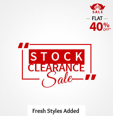 Flat 40% Off on fashionable ensembles just added to range. Rush in!