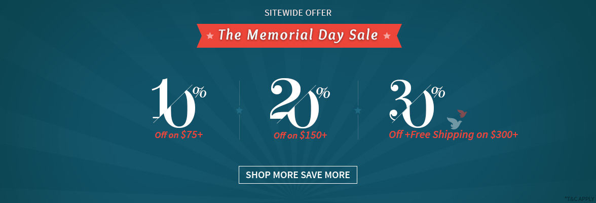 Memorial Day Step Up offer: Get up to 30% Off + Free Shipping on USD300+ bags. Grab now!
