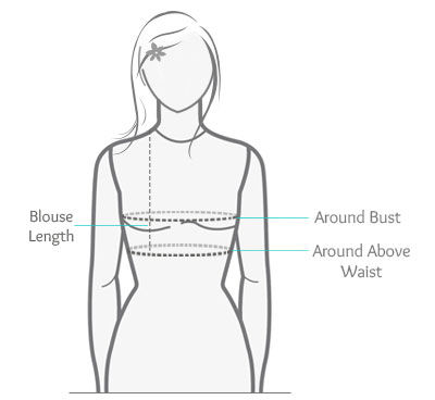 How To Measure Saree Blouse