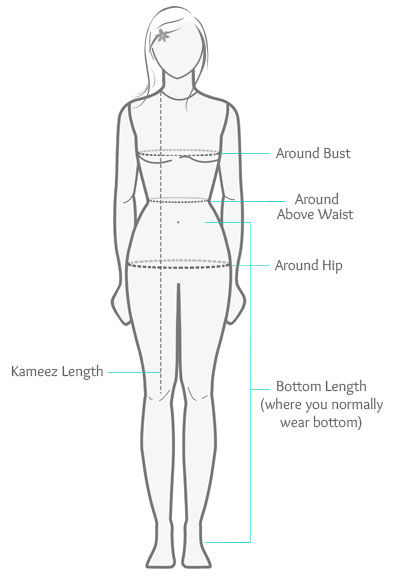 How to Measure Salwar Kameez