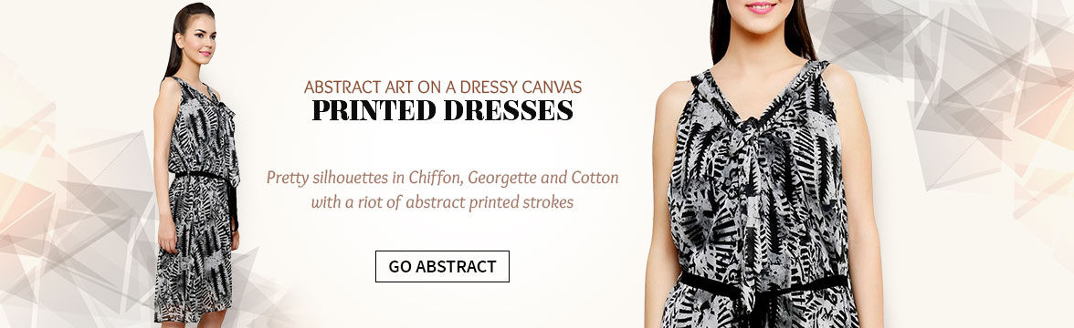 Range of Dresses with Abstract Prints. Shop!