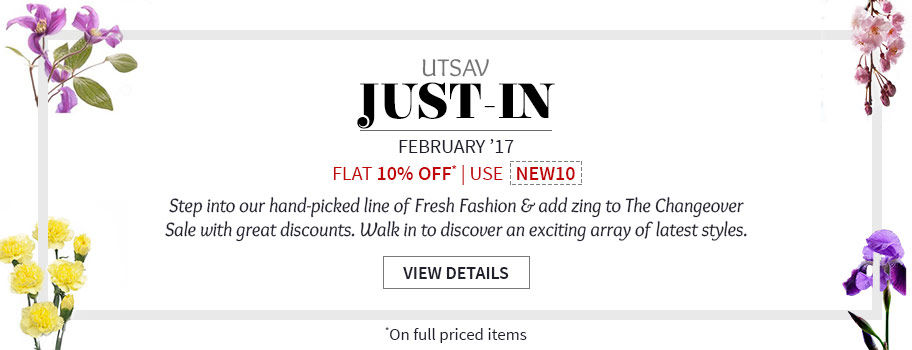 Get flat 10% Off on all New Arrivals