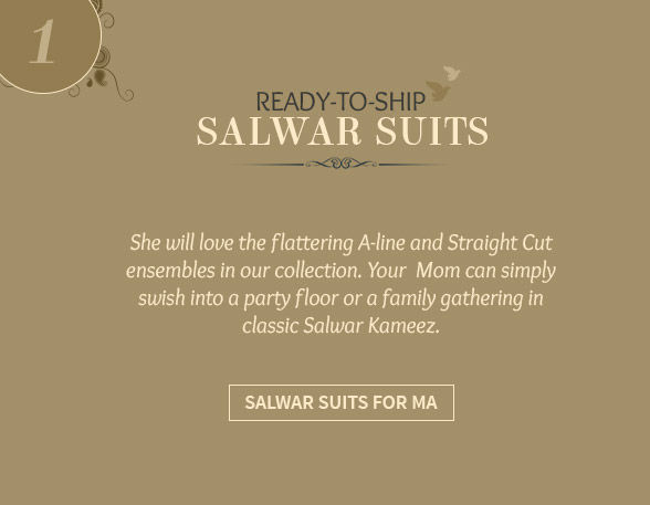 Shop ready to ship salwar kameez for mother's day