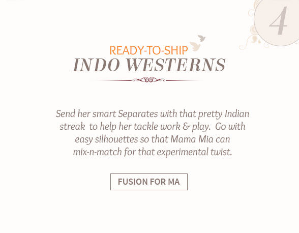 Shop ready to ship indowesternss for mother's day