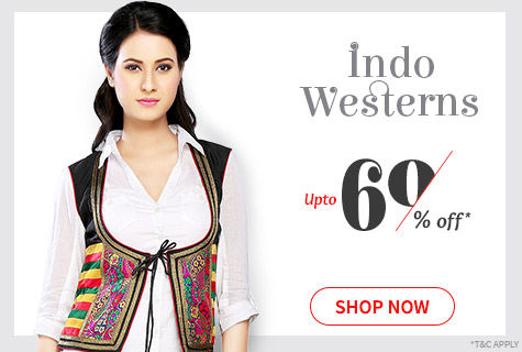 Upto 60% Off on Fusion Wear Collection of Mix-n Match, Stylish Separates, Gowns, Dresses & more. Shop!