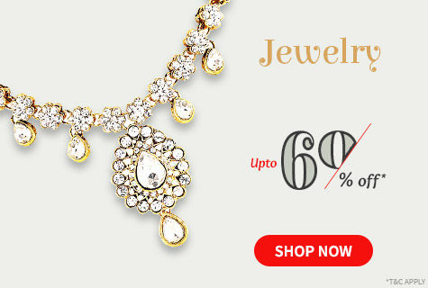Upto 60% Off on a Beautiful Array of Traditional & Modern Jewelry. Shop!