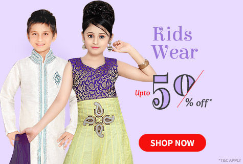Upto 50% Off on Amazing Outfits for Boys & Girls. Steal it!