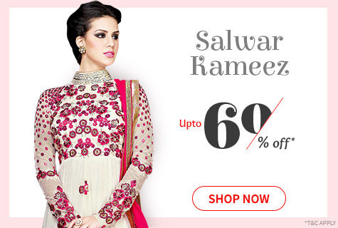 Upto 60% Off on Salwar Kameez for comfort and style. It's a deal!