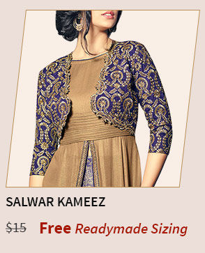 Get your Kameez and Salwar stitched as per given sizes for free. Shop Now!