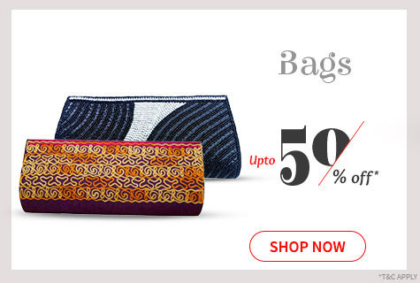Upto 50% Off on a desirable array of Bags to match your attire. Bag the deal!