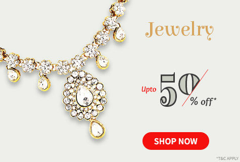 Upto 50% Off on a Beautiful Array of Traditional & Modern Jewelry. Shop!