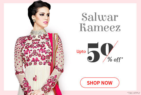 Upto 50% Off on Salwar Kameez for comfort and style. It's a deal!