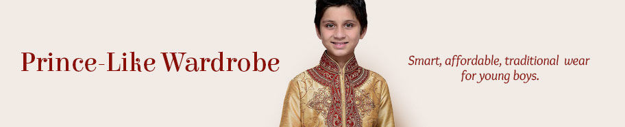 Wonderful variety of Ethnic Fashion for Boys. Shop!