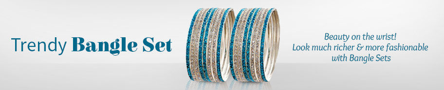 Bangle Sets in Metal Alloy, Stones, Beads, Polki. Shop!