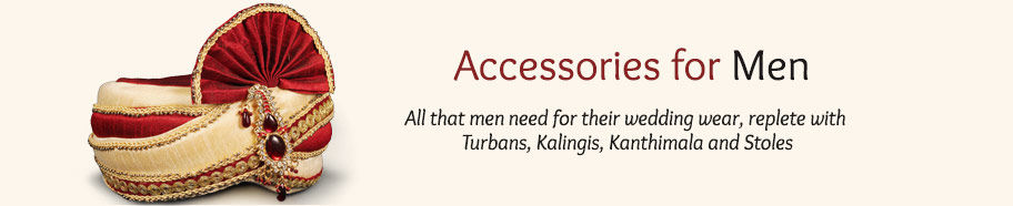 Wedding Accessories from Turbans, Stoles, Kalingis & more. Shop!