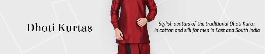 Dhoti Kurtas in cotton and silk. Shop!