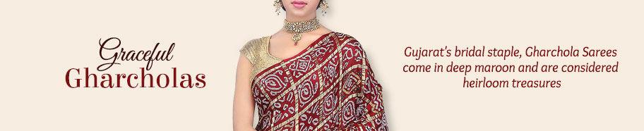 Gharchola Silk Sarees from Gujarat. Shop!