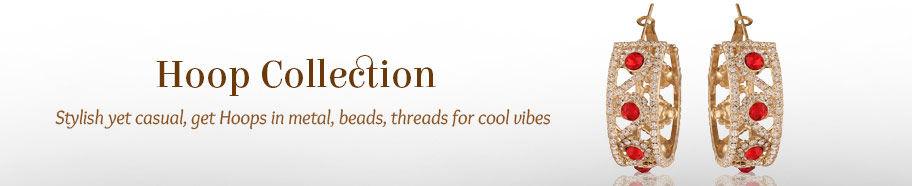 Hoop Earrings in Metal, Beads, Threads & more. Shop!