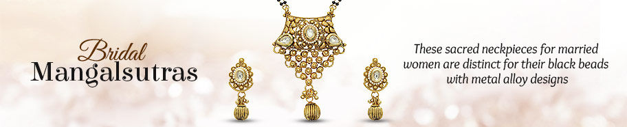 Bridal Mangalsutras in myriad designs. Shop!