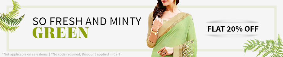 Flat 20% off on Green ensembles. Shop!