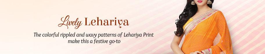 Lively Lehariya Print Sarees. Shop!