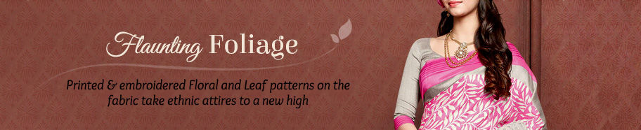 Foliage print Ethnic Attires. Shop!