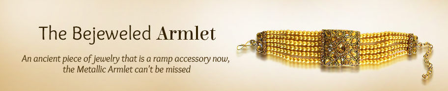 Stone studded Armlets in Metal Alloy. Shop!