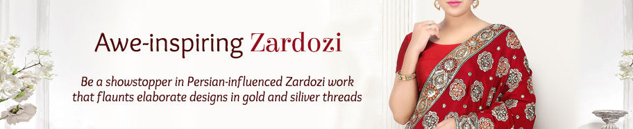 Attires with elaborate Zardozi work. Shop!