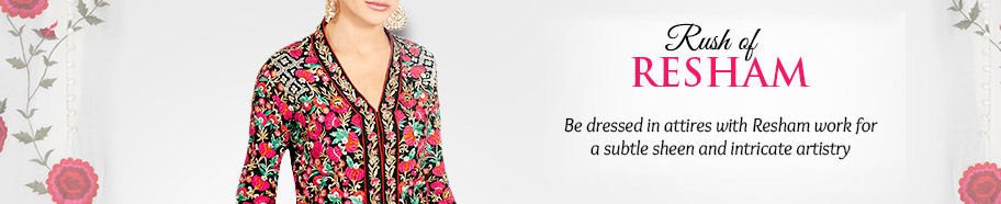 Attires with Resham work. Shop!