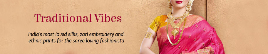Traditional Sarees in silk, chiffon and cotton. Shop!