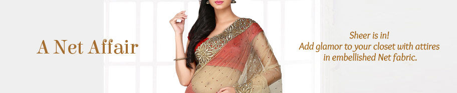 Range of ethnic ensembles in Sheer. Buy!