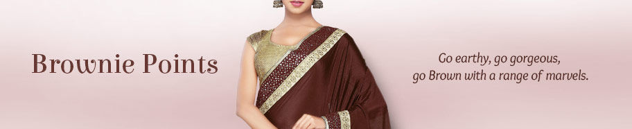 Ethnic ensembles in Brown. Shop!