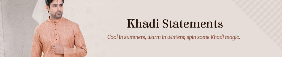 Range of Khadi garments. Shop!