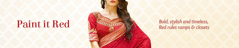 Ethnic ensembles in Red. Buy!
