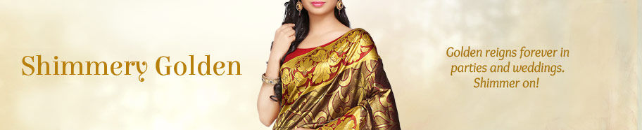 Ethnic wear in golden. Buy!