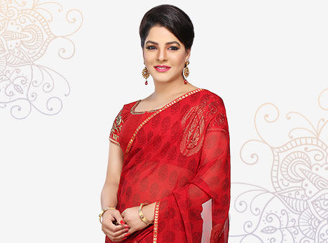 Choose from the largest collection of Sarees with Plus Size blouses
