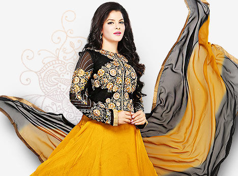 Choose from the largest collection of Salwar Suits in Plus Size