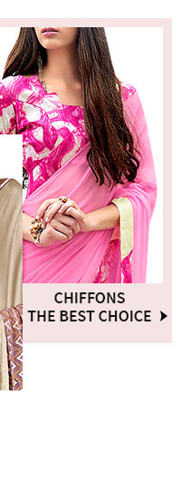 Shop Chiffon sarees with Plus size blouses