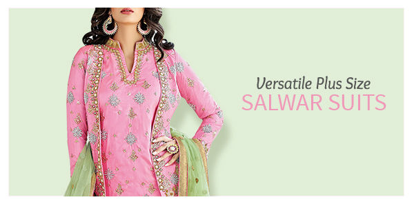 6d55c581d Plus Size Indian Clothing- Shop Salwar Suits