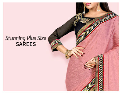 Shop Plus Size readymade sarees