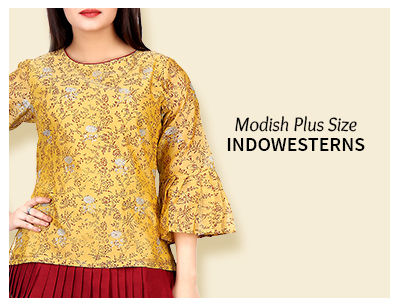 Shop Plus Size readymade indowestern