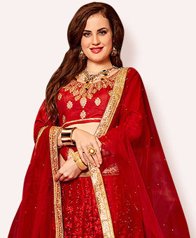 170ae37f15 Plus Size Indian Clothing- Shop Salwar Suits, Lehengas, Blouses & More