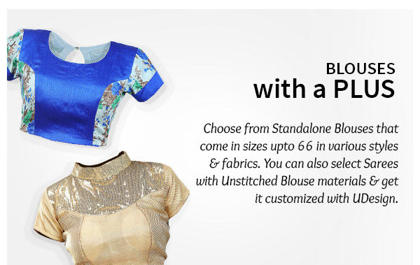 Readymade Blouses and Customizable Blouses for Plus Size. Shop!