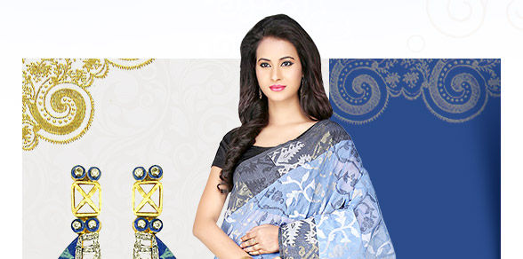 Cotton, Pure Silk, Kalamkari, Kantha, Tant,Block Prints & more in Sarees. Explore!