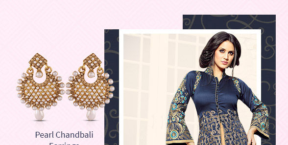 Georgette, Chiffon, Art Silk,Digital Prints, Ombre Hues & more in Salwar Kameez. Shop!