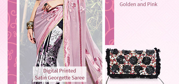 Georgette, Chiffon, Art Silk, Digital Prints, Ombre Hues & more in Sarees. Shop!