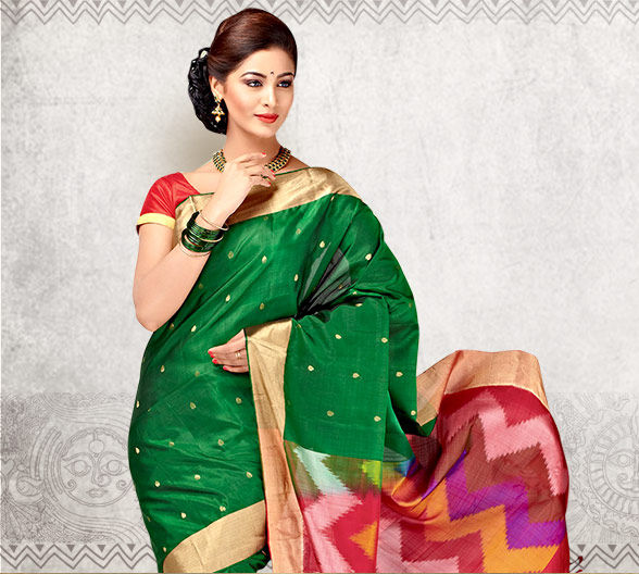 Kanchipuram, Bangalore Silks, Bandhani, Leheriya Prints, Punjabi Suits & more. Shop!